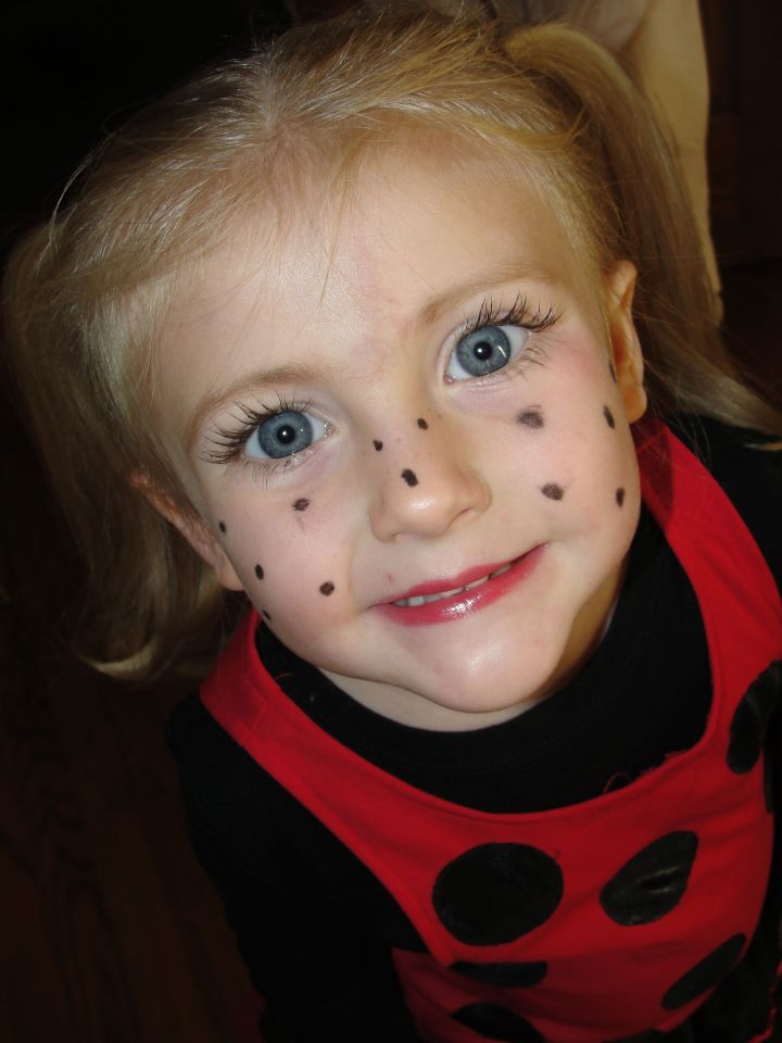 Face Makeup For Ladybug Costume   The World Of Make Up