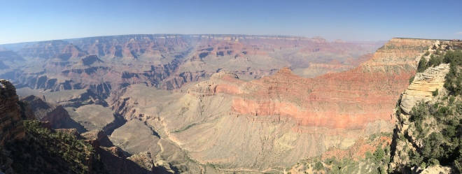 We got to stop and see the majesty of the Grand Canyon on our trip out to CA.